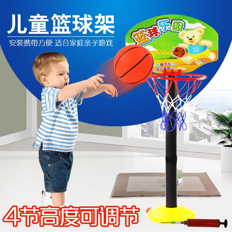 Rc Baby Kids Indoor Outdoor Height Adjustable Kids Toddler Basketball Stand Super Sport Set Kid Toy With Air Pump Ball Inflator Gift Cheap