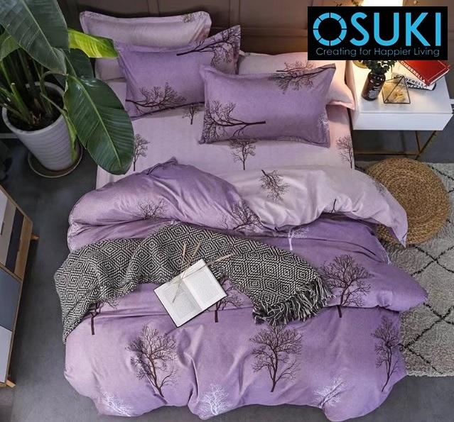 OSUKI 5 In 1 King Size Bedsheet Set (Designed As Main Image)