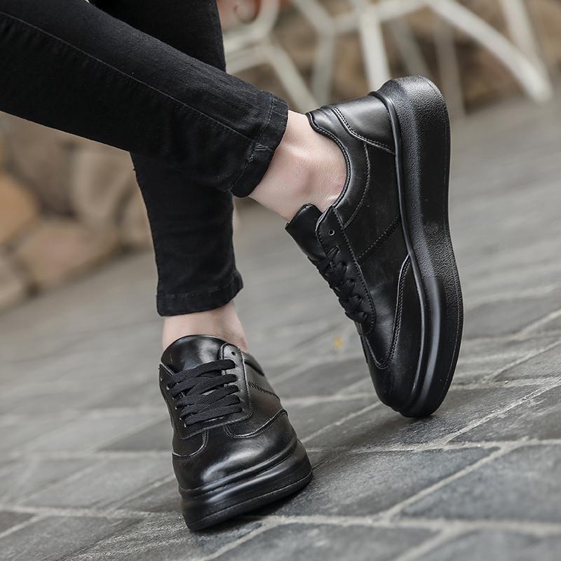... Sepatu pria musim dingin sepatu trendi 2018 model baru sepatu putih  kecil pria Gaya Korea pasangan ... a5c72ede7c