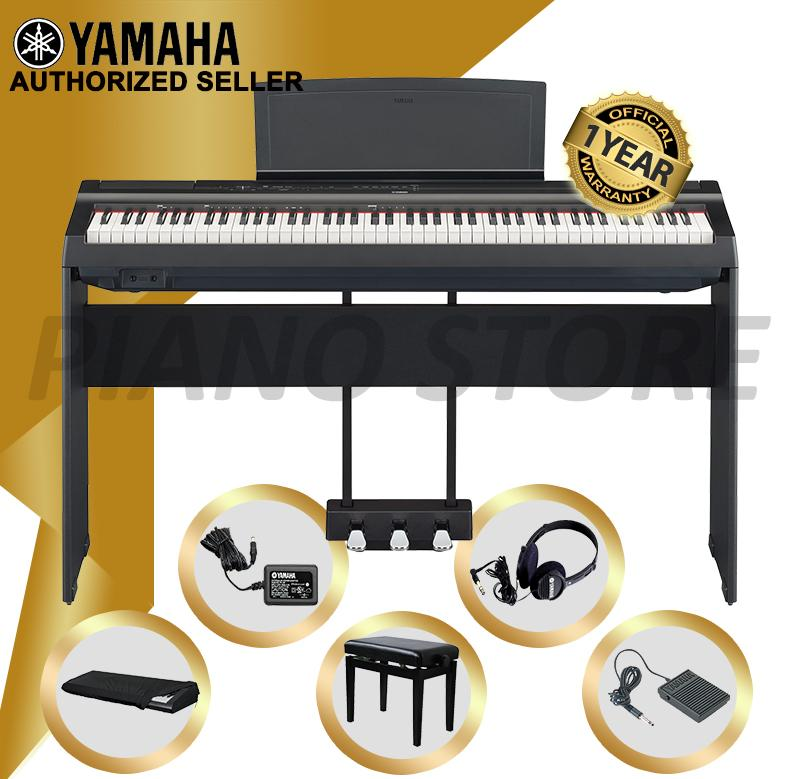 Get The Best Price For Authorized Seller Yamaha P 125 Digital Piano Black With Height Adjustable Piano Bench And Gator Dust Cover Gkc1648