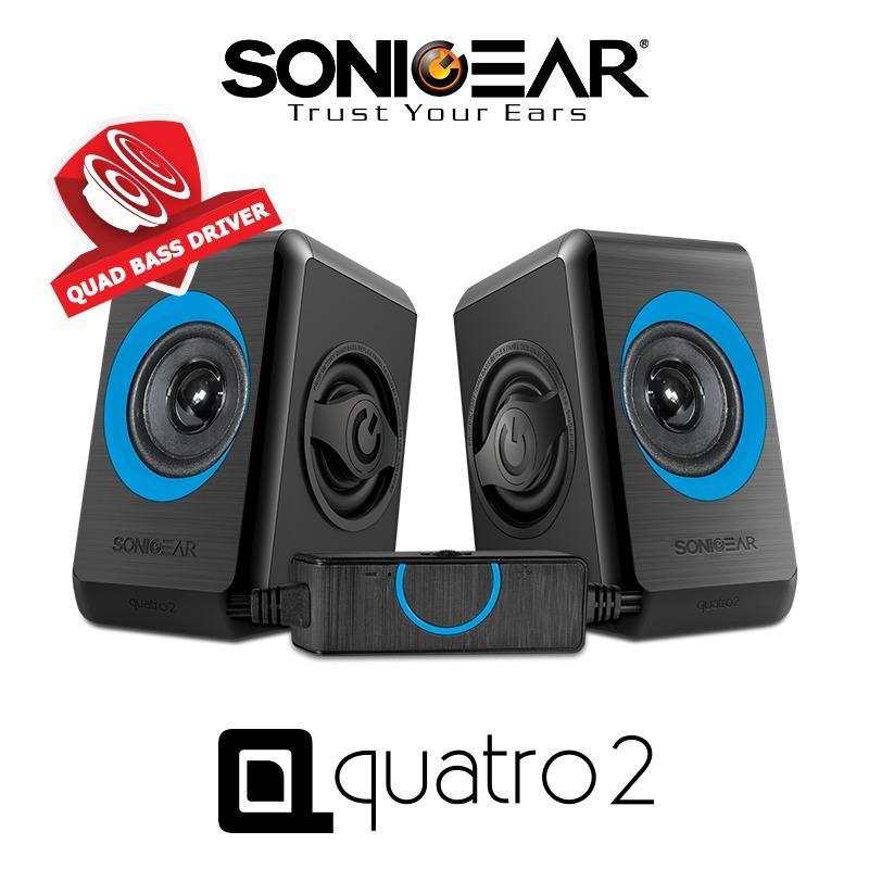 Discount Sonicgear 2 Speaker Quatro 2 Blue Singapore