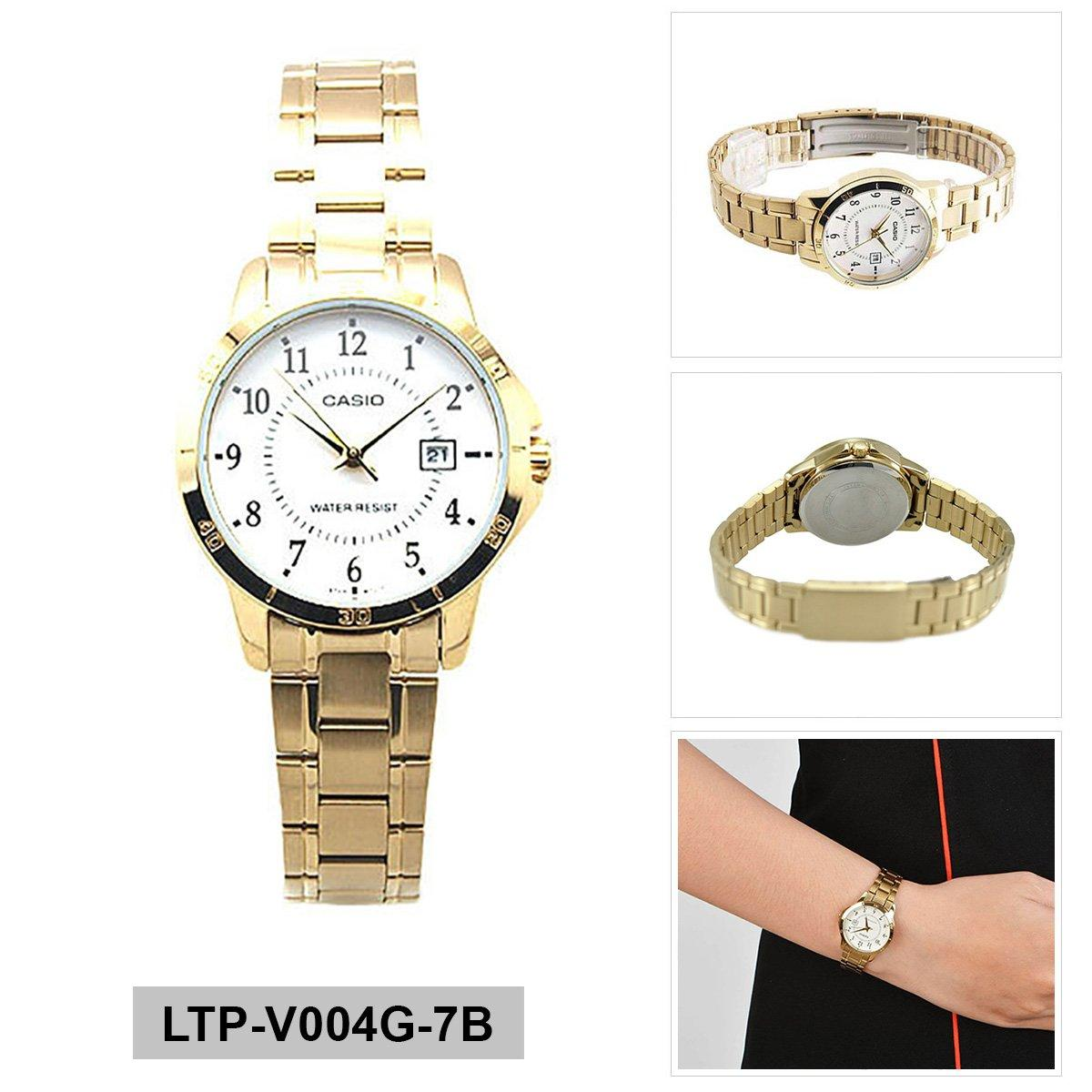 How To Get Casio Watch Standard Gold Stainless Steel Case Stainless Steel Bracelet Ladies Ltp V004G 7B