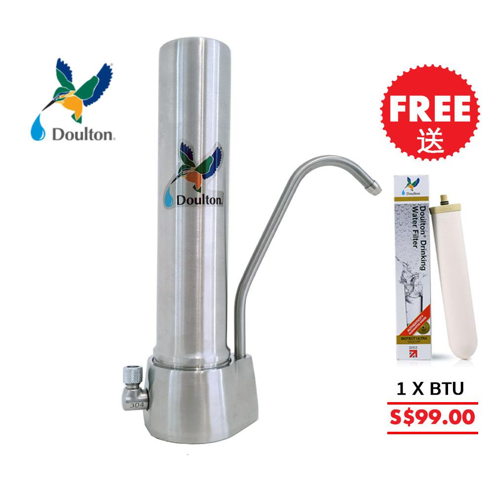 Free Extra Candle Doulton Hqs Biotct Ultra Ss Healthy Minerals Water Filters System Stainless Steel Unibody Matt Surface Doulton Water Filters Ready Stock On Line