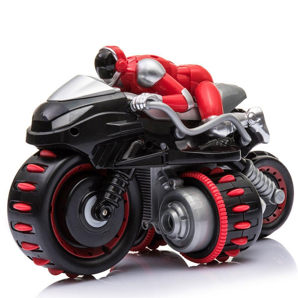 Rumah Besar 2.4G Pengendali Jarak Jauh 360 ° Rolling Mainan Motor Warna-warni Sepeda Motor Stunt Mobil dengan Suara Musik untuk Anak Laki-laki Hadiah Natal Ulang Tahun 1 pc