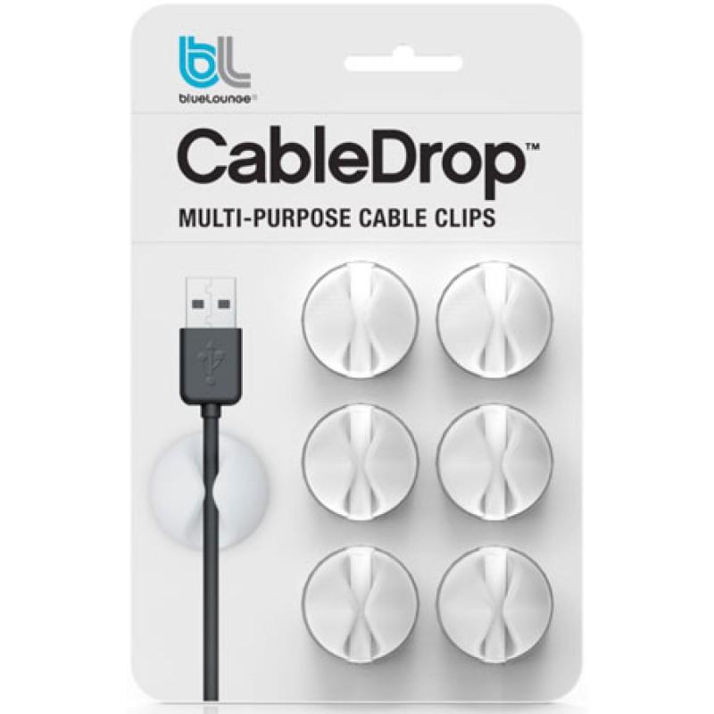 Review Bluelounge Cabledrop Multi Purpose Cable Clips Management Peel Stick White Bluelounge