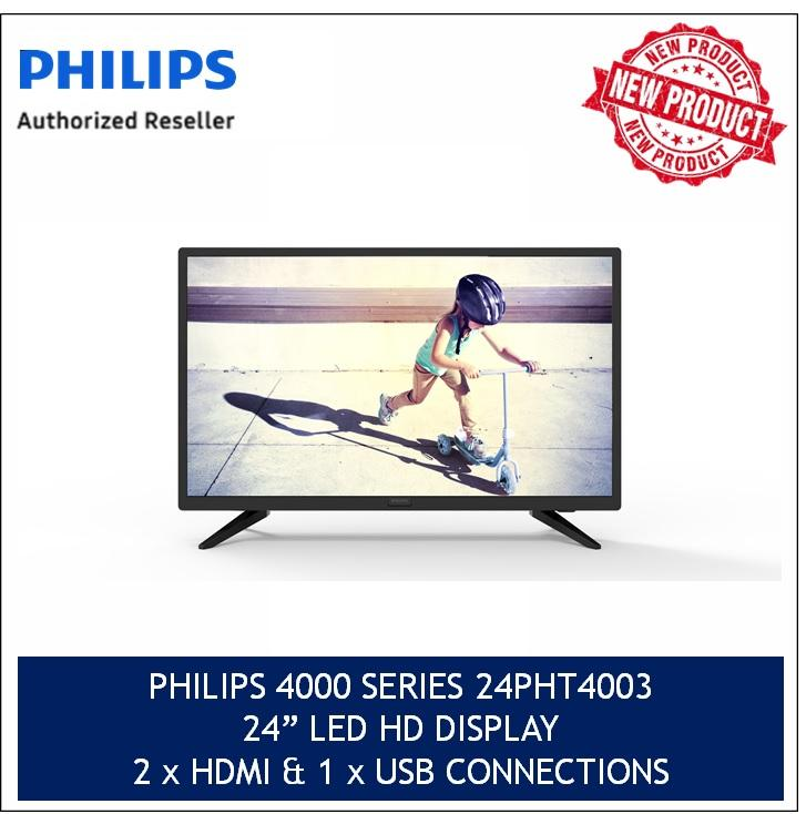 Philips 24 Slim Led Tv W Digital Crystal Clear 24Pht4003 98 3 Years Local Official Warranty Philips Discount