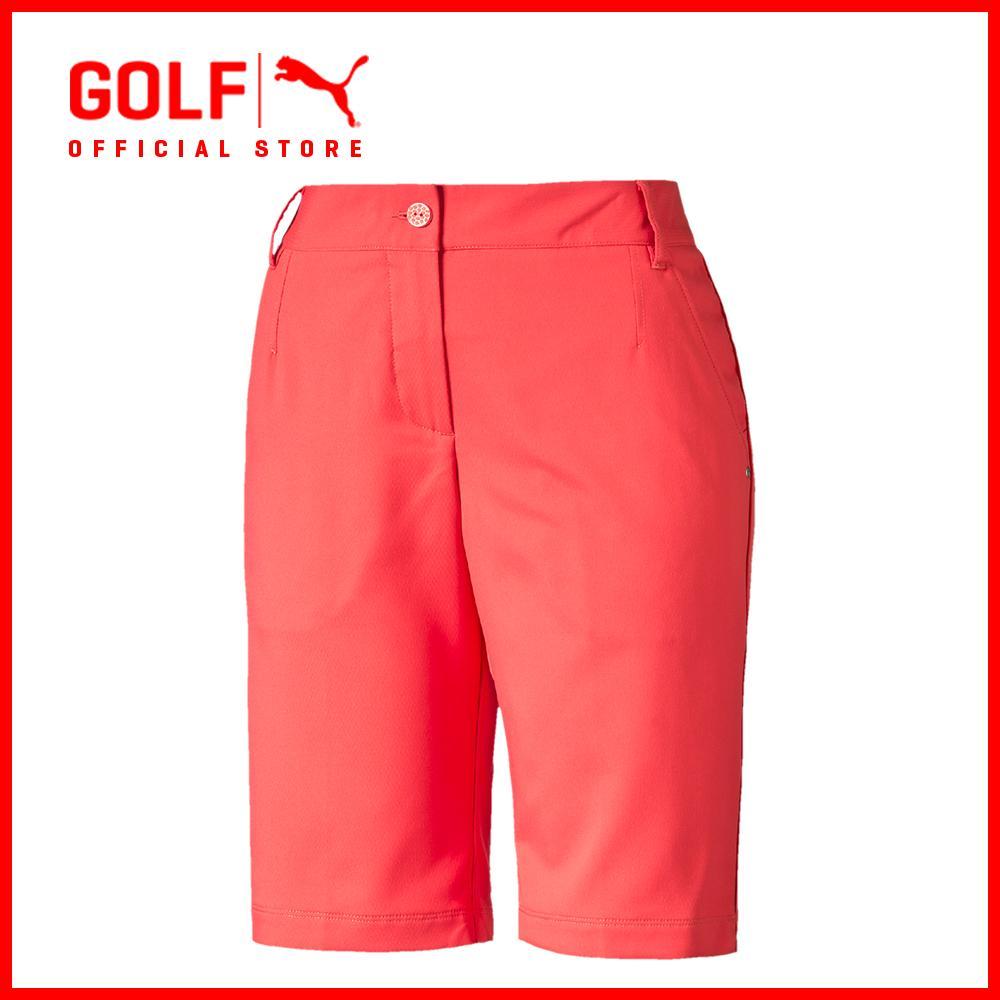 Puma Golf Women Solid Tech Bermuda Us Cayenne Free Shipping