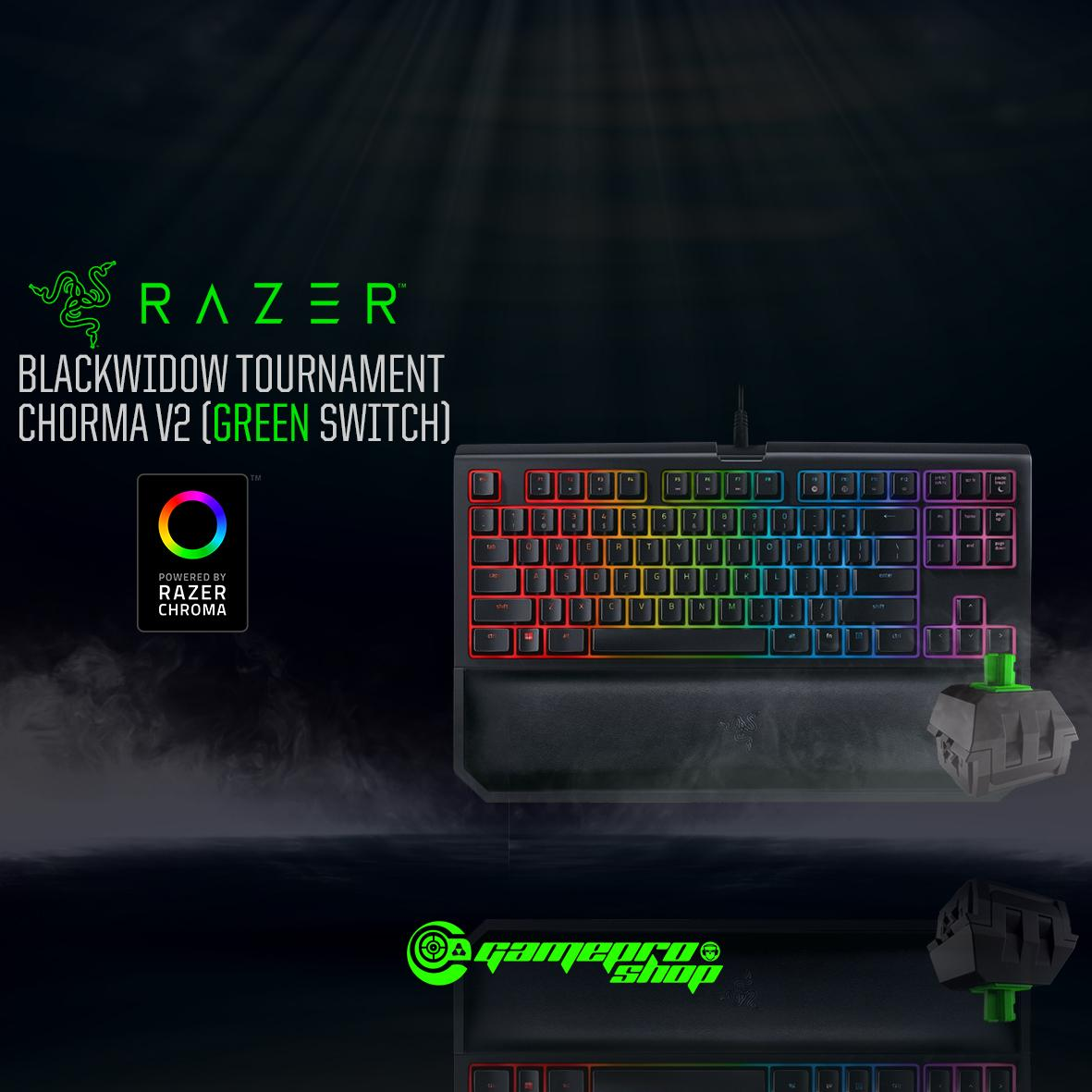 Razer Blackwidow Tournament Chroma V2 (GREEN SWITCH) *GSS PROMO*
