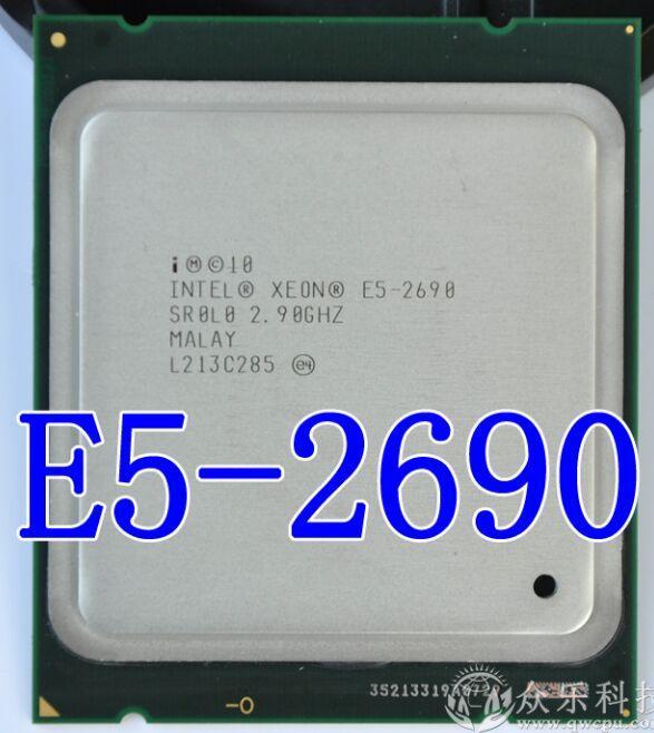 Asli Prosesor Intel Xeon E5-2690 E5 2690 Delapan Core 2.9G SROL0 C2 LGA2011 CPU 100% Bekerja dengan Baik Desktop Prosesor-Intl