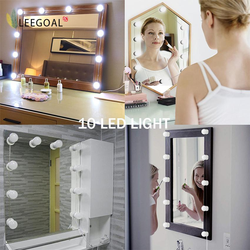 Sale Leegoal Makeup Mirror Lights Hollywood Style Led Vanity Mirror Lights Led Bulbs Kit For Makeup Dressing Table With Touch Dimmer And Power Supply Plug In Lighting Fixture Strip Mirror Not Included Intl Leegoal