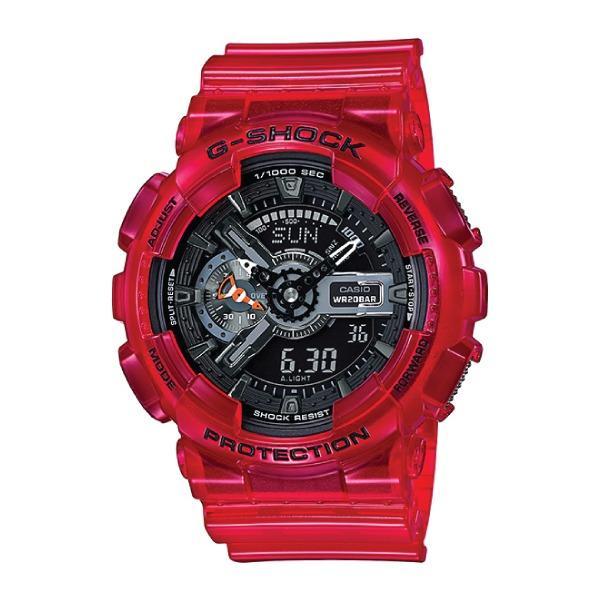 Sale Casio G Shock Aqua Planet Coral Reef Color Red Resin Band Watch Ga110Cr 4A Ga 110Cr 4A Casio G Shock Cheap