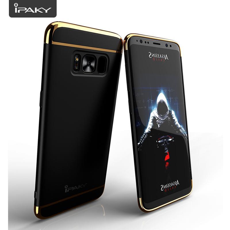 Galaxy S8 Plus Mewah Menyepuh Dgn Listrik Shockproof Kembali Casing Kover untuk Samsung Galaxy S8 Plus