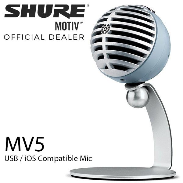 How To Buy Shure Motiv Mv5 Digital Condenser Microphone For Ios Usb