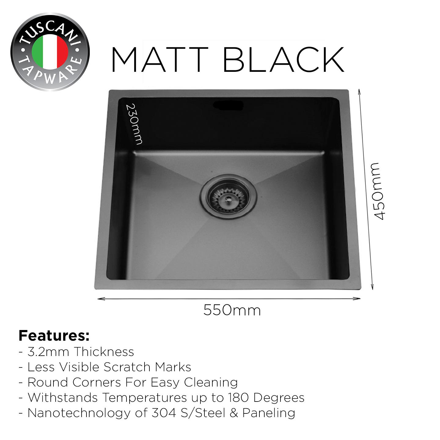 MBX-550 Black Kitchen Sink