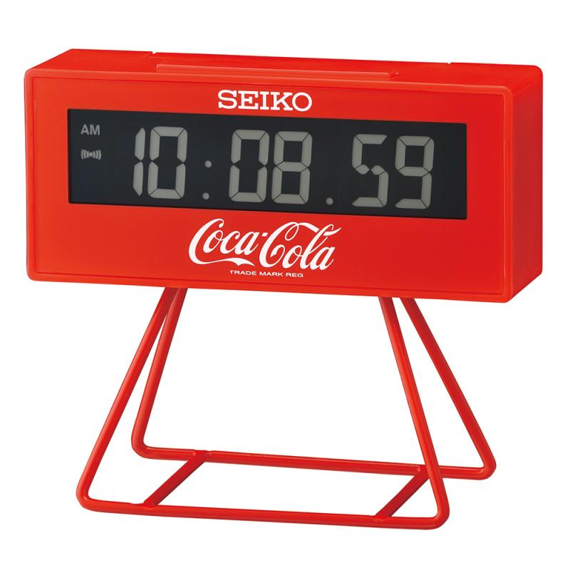Seiko QHL901R Limited Edition Coca-Cola LCD Digital Alarm Clock With Stand
