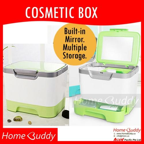 Discount Cosmetic Box With Mirror Ready Stocks Sg Reach You 2 To 4 Work Days Homebuddy Acev Pacific Cosmetic Storage Cosmetic Organizer Makeup Organizer Makeup Mirror Jewelry Organizer Homebuddy