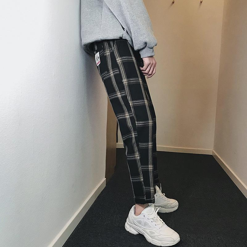 Latest Japanese Style Spring New Style Men S Plaid Pants
