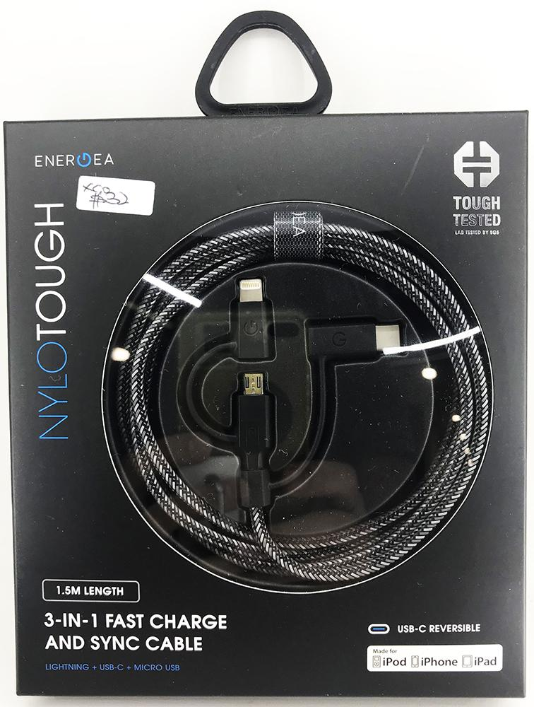 Price Comparisons Of Energea Nylotough 1 5M 3 In 1 Fast Charge Sync Cable