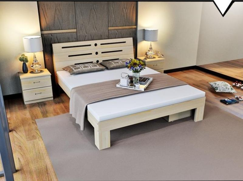 King Size Bed Fame – Nature Solid Wood