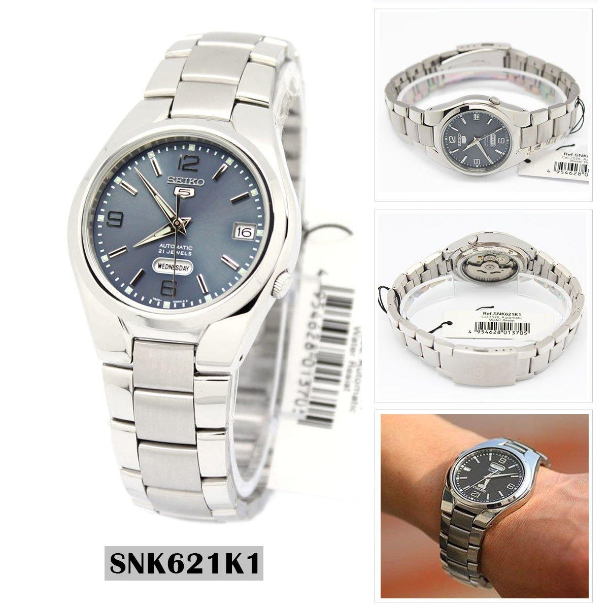 Seiko Seiko 5 Automatic Silver Stainless Steel Case Stainless Steel Bracelet Mens Snk621K1 Shop
