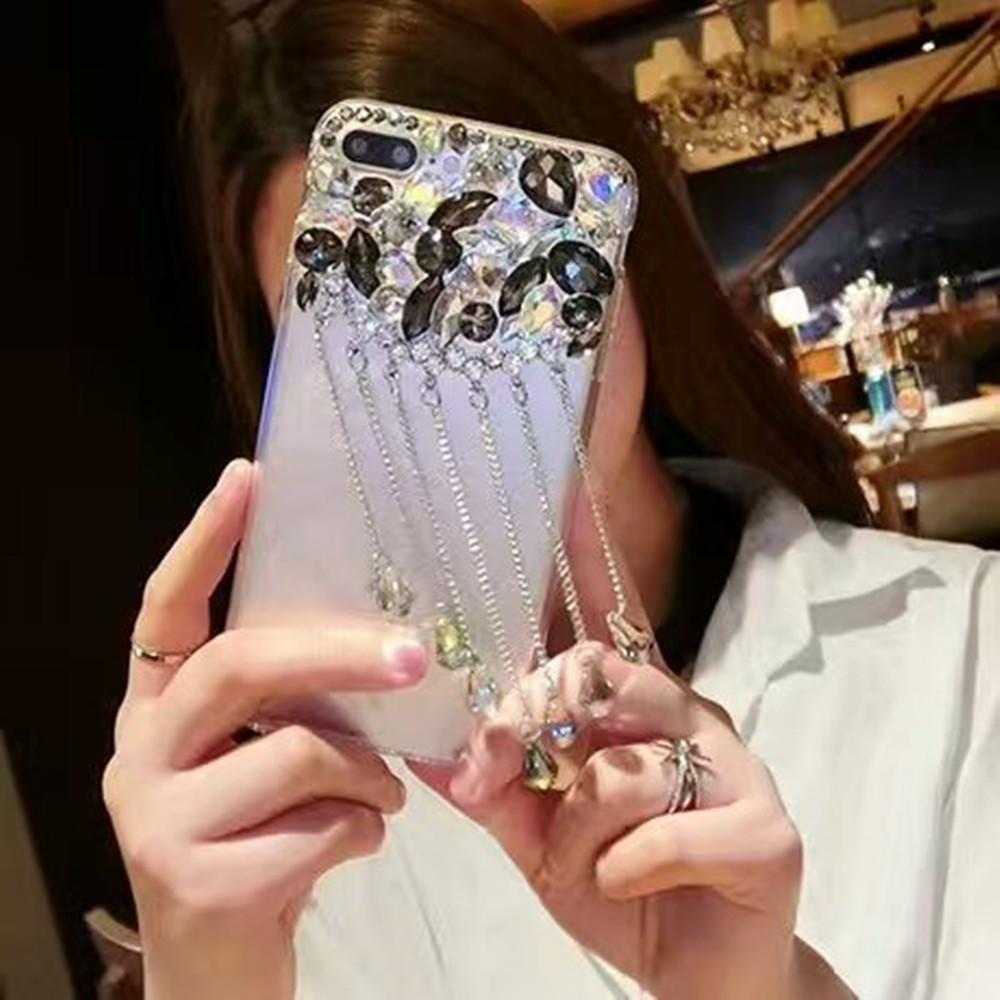 Mewah Liontin Kilau Telepon Case S untuk ZTE Blade V9 Vita Penutup Belakang Tempat Batu Berlian Mewah untuk ZTE Blade V9 Vita-Intl