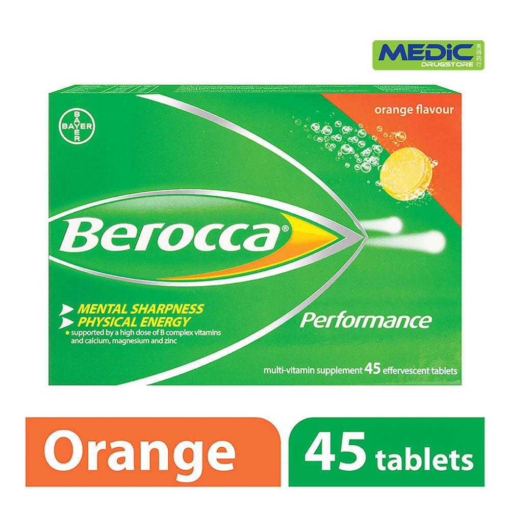 Cheaper Berocca Performance Vitamin B Orange Energy Effervescent Tablet 45S