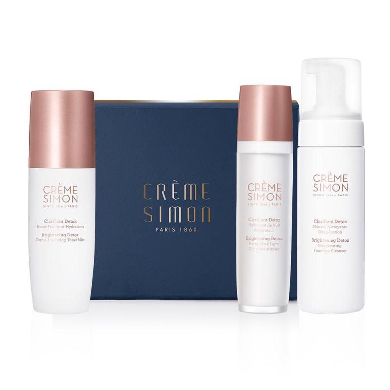 Buy Crème Simon Starters Essential Night Set (Facial Cleanser 150ml + Toner Mist 150ml + Night Moisturiser 50ml) Singapore