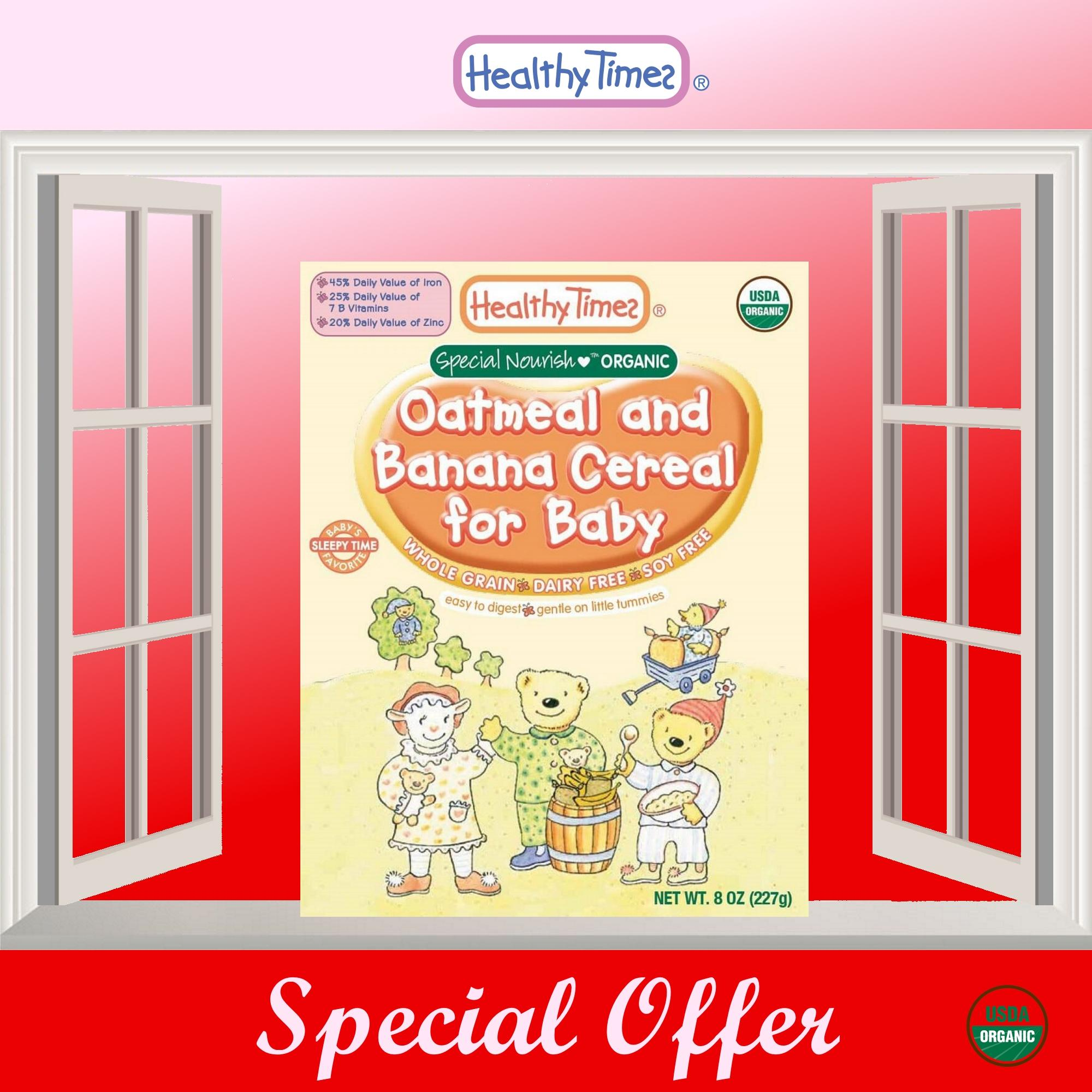 Sale Expiry 04 Nov 2018 Without Outer Box Due To Dented Packaging 2 X Organic Oatmeal And Banana Cereal For Baby 6 Months On Singapore