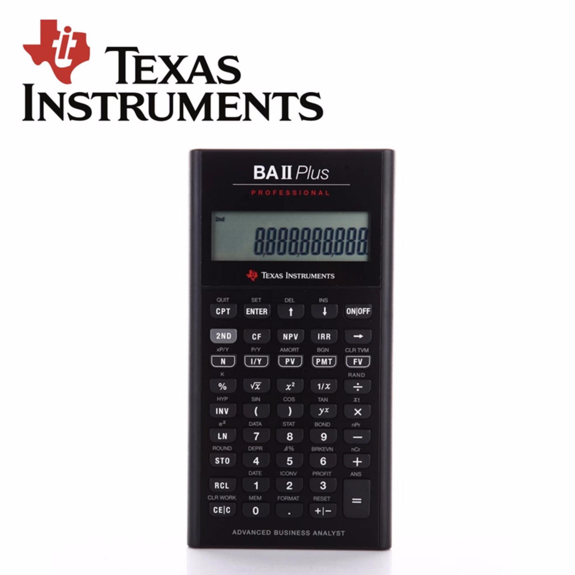 Texas Instruments Ti Ba Ii Plus Professional Financial Calculator For Cfa Intl Price