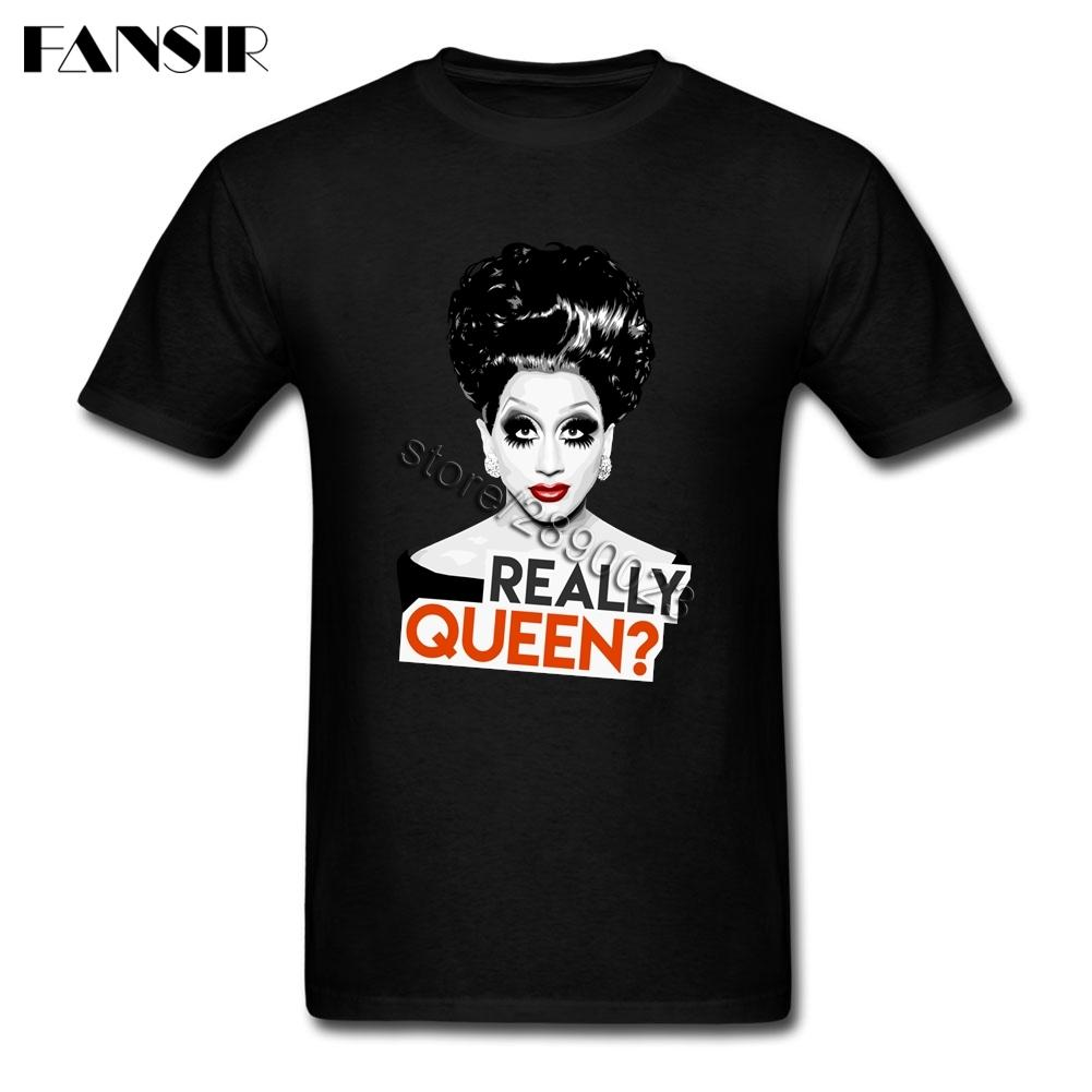 8c5ccd580 CHFD Big Size Really Queen Bianca Del Rio Rupaul Premium Tshirts Male  Custom Cotton Short Sleeve
