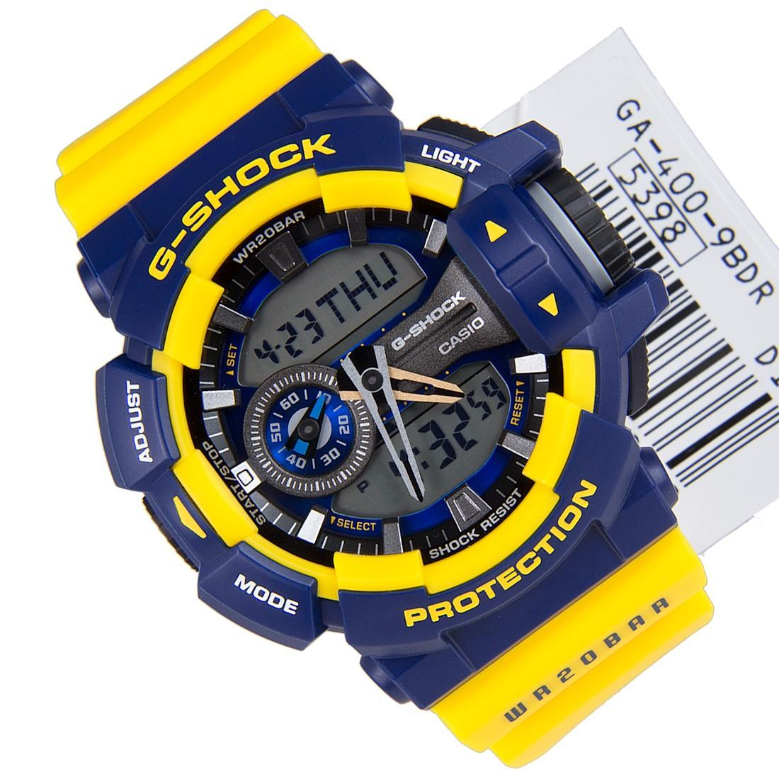 Review Casio G Shock Standard Classic Men Sport Yellow Resin Strap Watch Ga 400 9B Ga 400 9Bdr Ga 400 9Bd Ga 400 9 Casio G Shock On Singapore