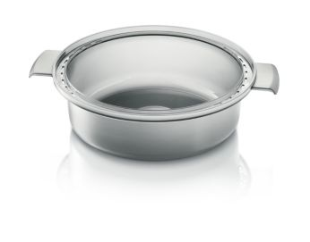 Steaming bowl for soup, stew, rice and more