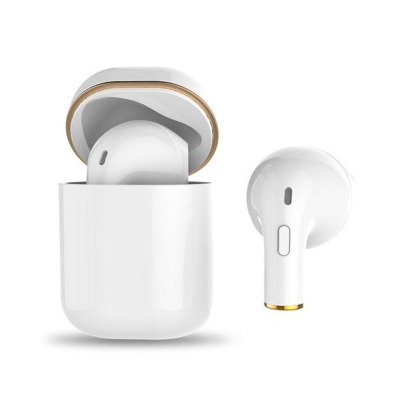 niceEshop Mini Portable Single Ear In-ear Button/Touch Screen Wireless Bluetooth 4.2 Headset With Charging Bin,DSP Intelligent Noise Reduction, Fully Compatible With IOS/Android. Singapore
