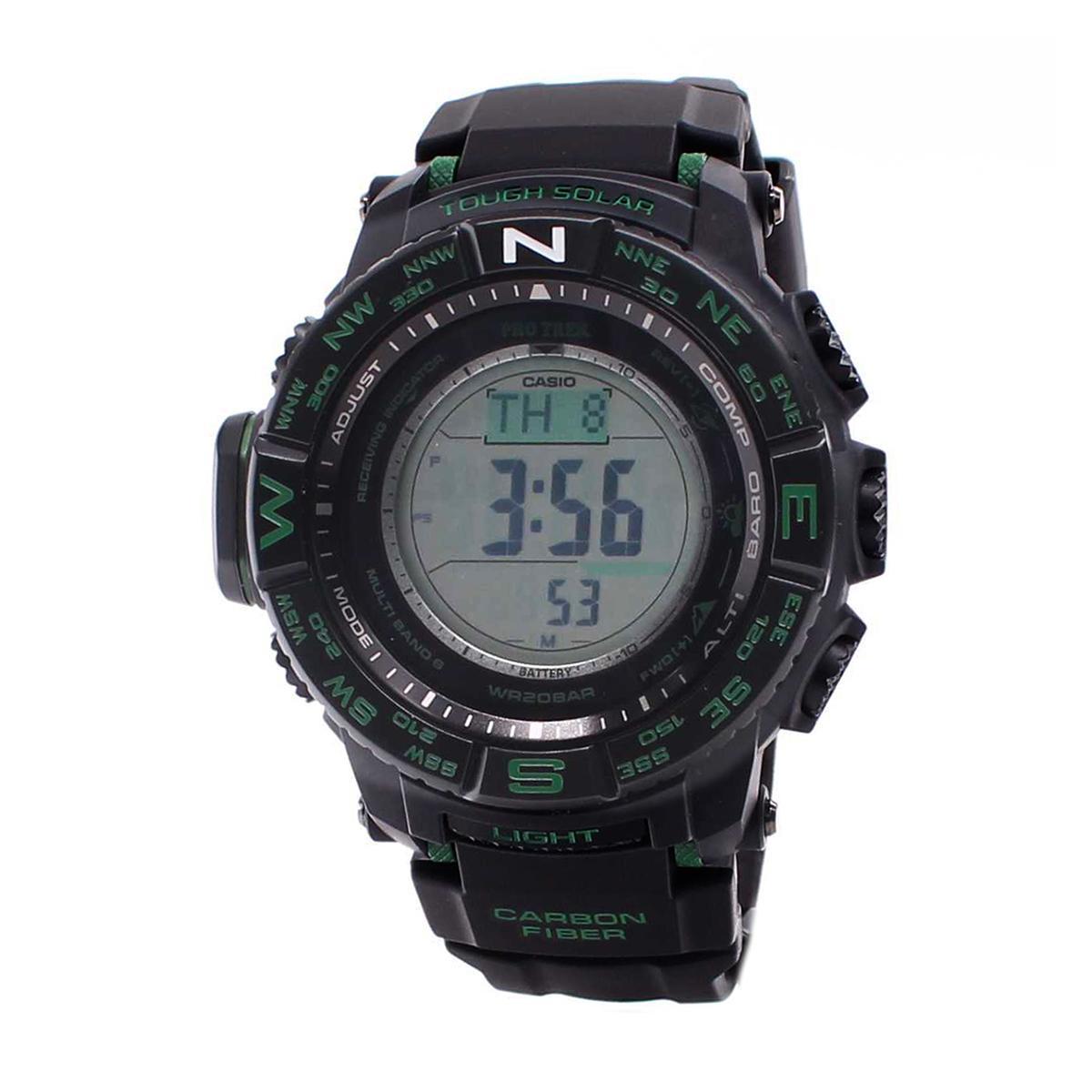 Buying Casio Watch Pro Trek Tough Solar Black Resin Case Resin Strap Mens Prw S3500 1D