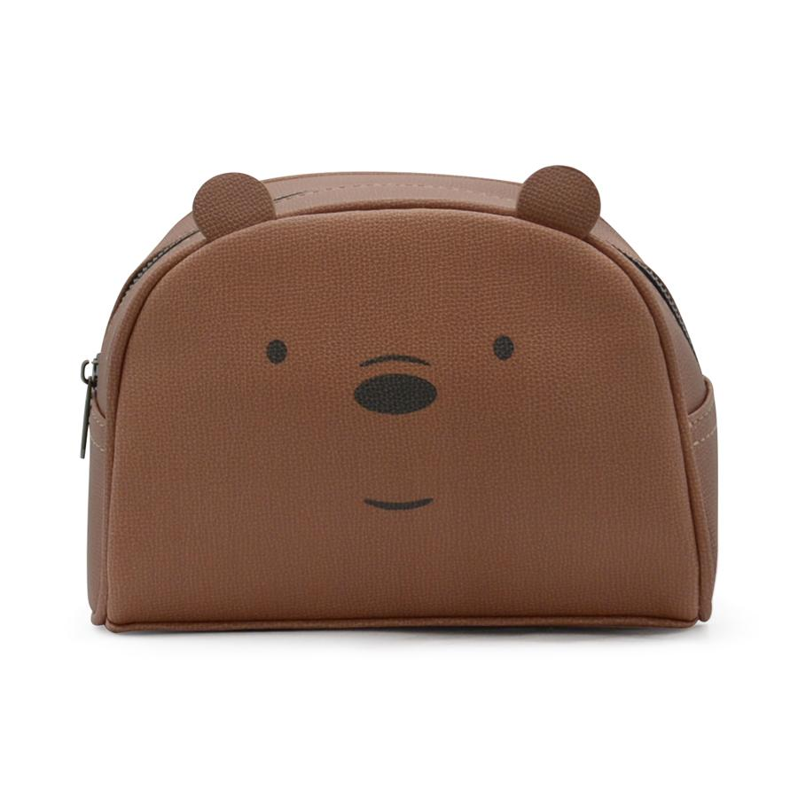 ZakkaSG x We Bare Bears Multi Purpose Pouch Purse for Girls Woman Teenagers-Panda-Grizz-Ice Bear