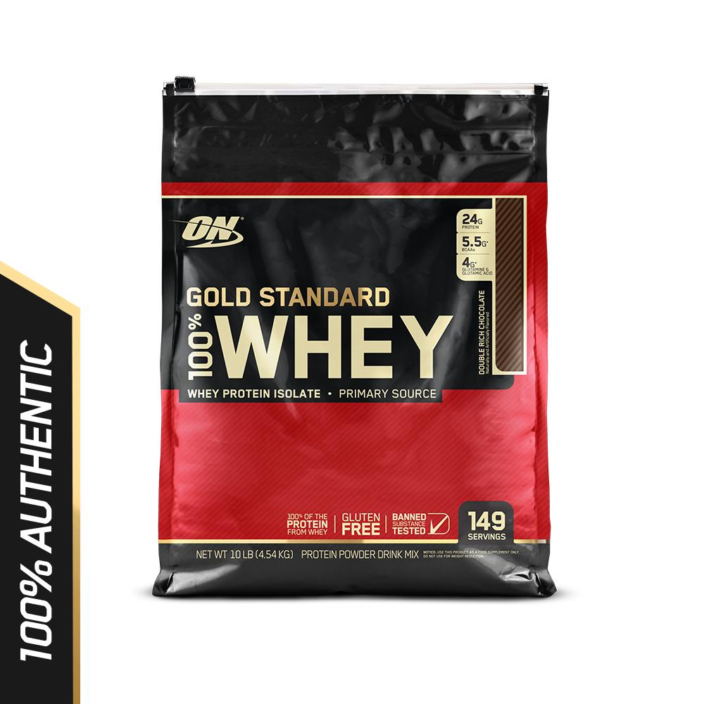 Lowest Price Optimum Nutrition Gold Standard Whey 10 Lbs Double Rich Chocolate