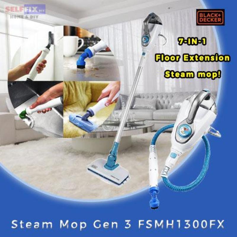 Black and Decker 7-in-1 Floor Extension Steam Mop FSMH1300FX Singapore