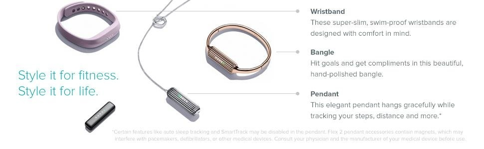 Fitbit Flex 2 Wristband Tracker (Black)