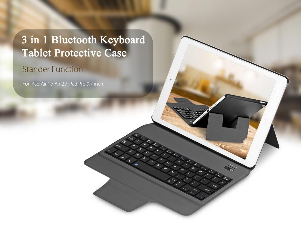 Shop For 3 In 1 Universal Bluetooth Keyboard Tablet Protective Case With Stander For Ipad Air 1 Air 2 Ipad Pro 9 7 Intl