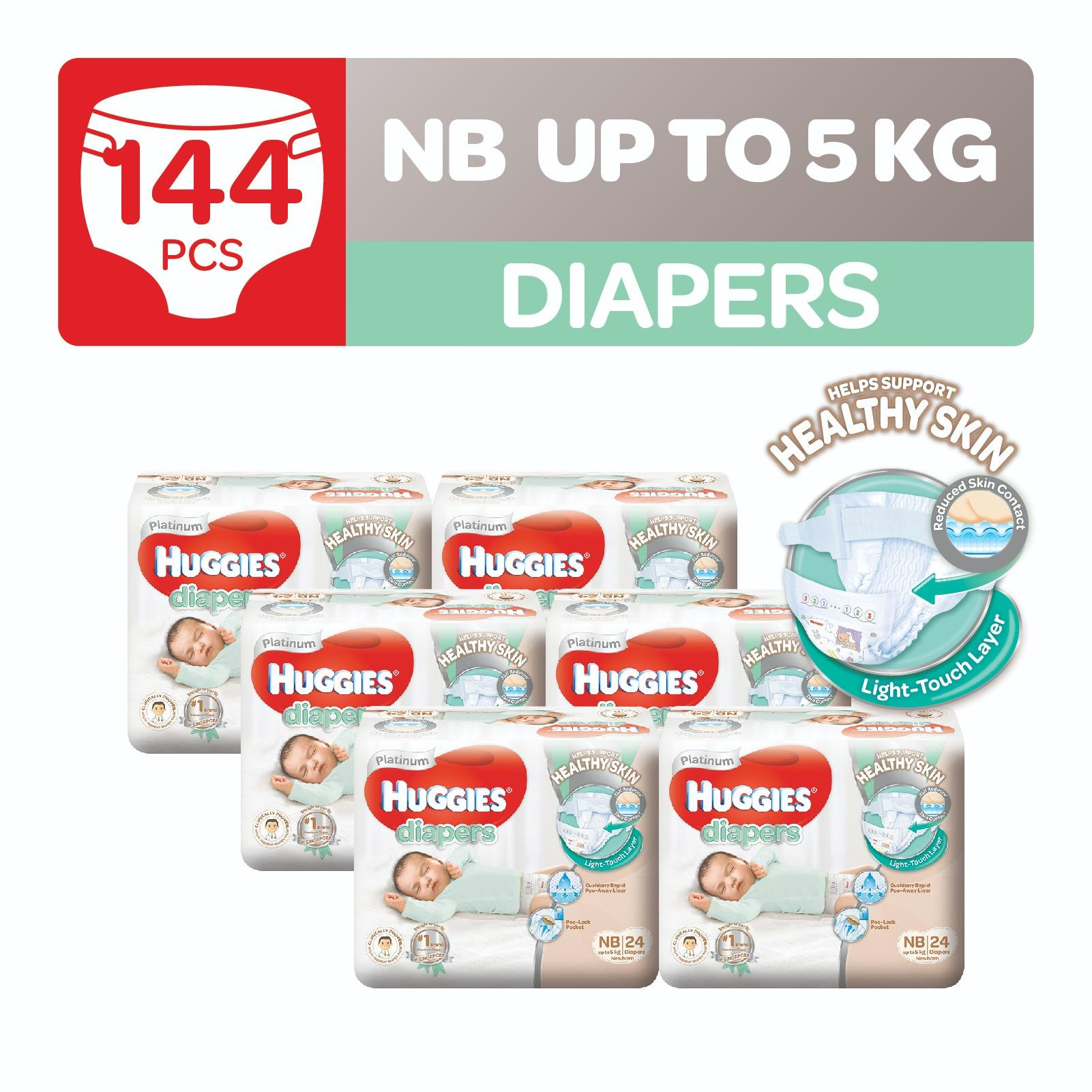 Best Deal Huggies Platinum Diapers Newborn 24Pcs X 6 Packs
