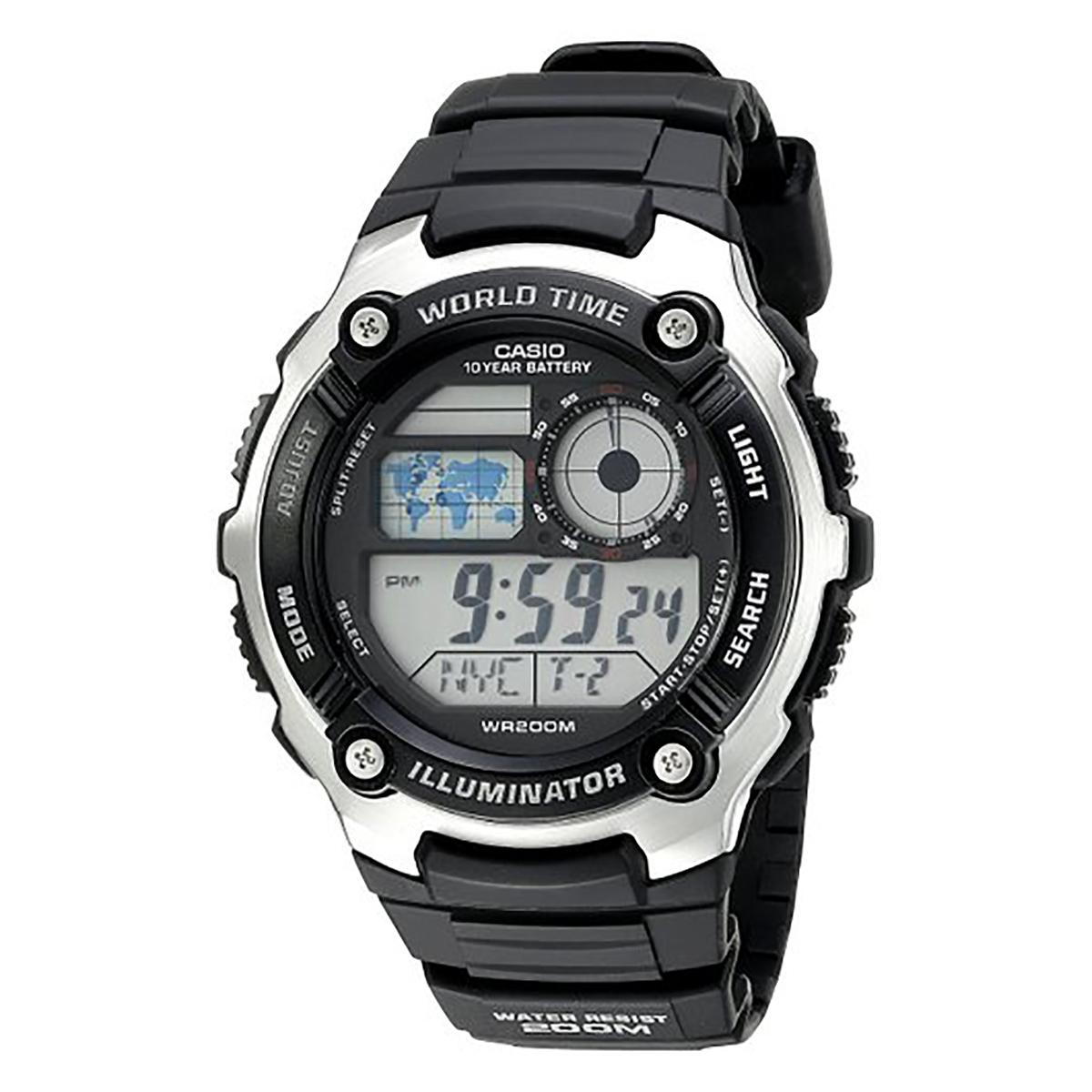 Price Casio Watch Standard Black Resin Case Resin Strap Mens Ae 2100W 1A On Singapore