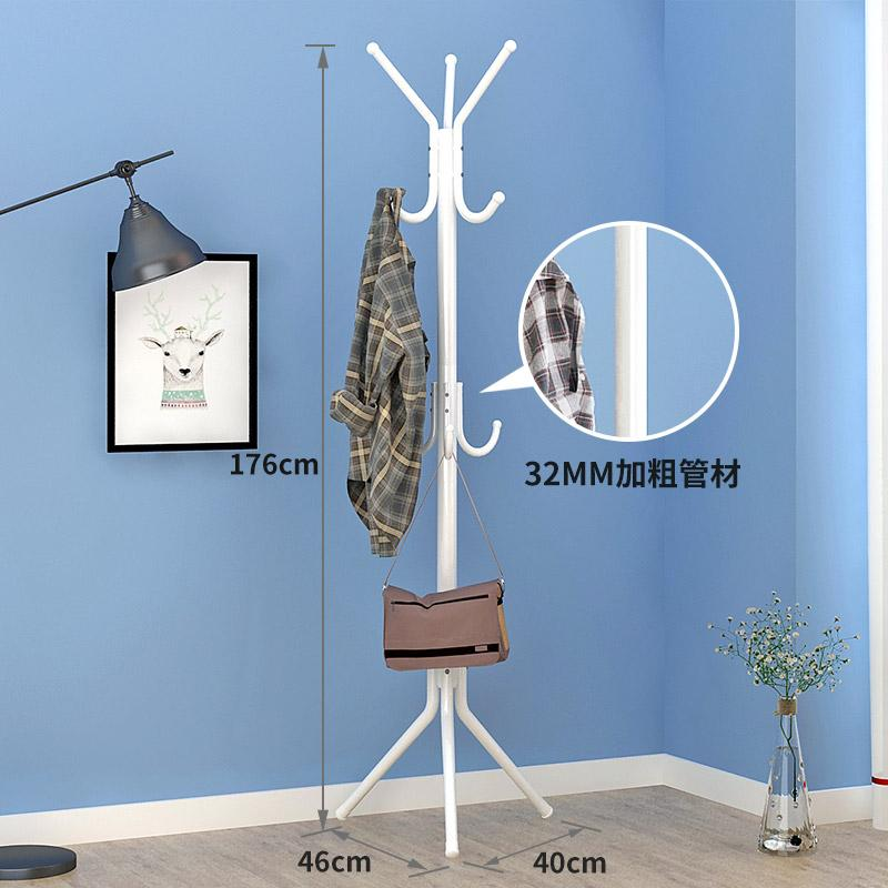 Modern minimalist landing hood with a small shelf clothes rack