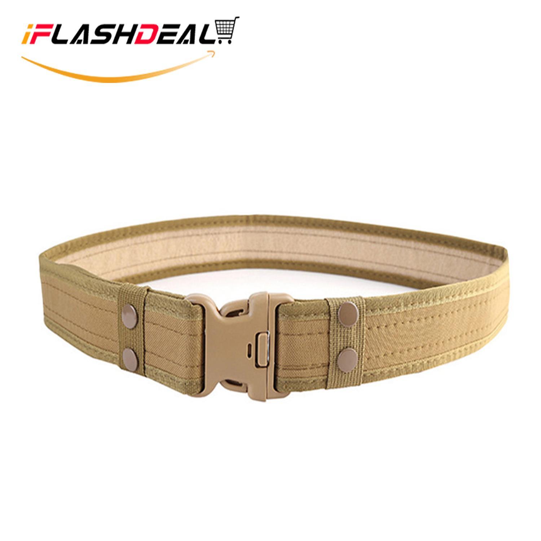 iFlashDeal Sabuk Tempur Taktis Utilitas Gear Ikat Pinggang Pria Adjustable  Heavy Duty Polisi Militer Peralatan dengan 126df5163f