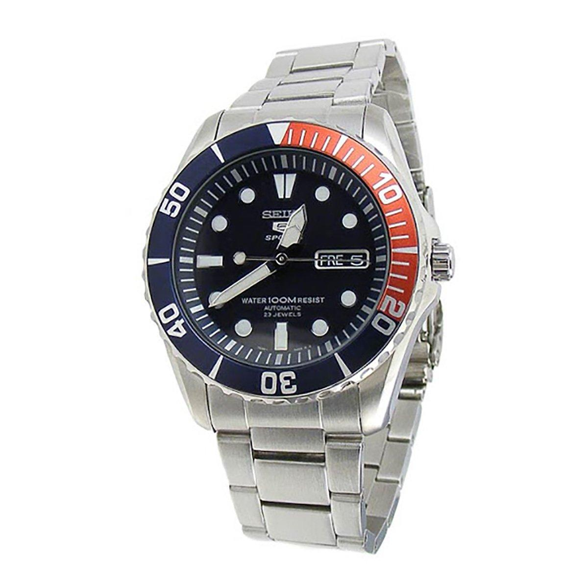 Discount Seiko Seiko 5 Sports Silver Stainless Steel Case Stainless Steel Bracelet Mens Snzf15K1 Seiko Singapore