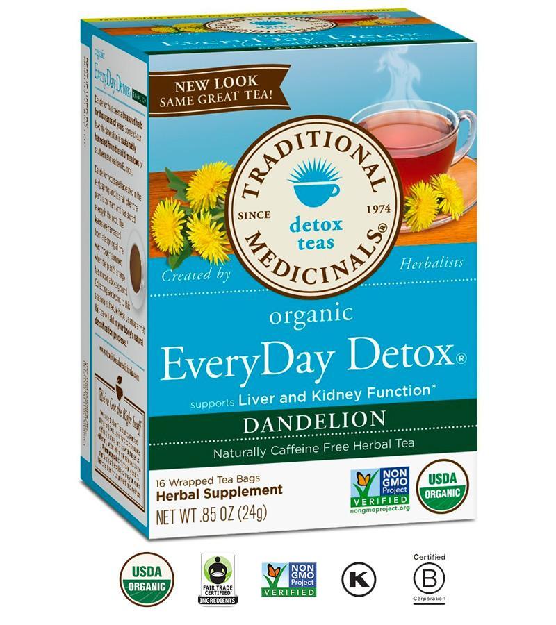 Sale Traditional Medicinals Organic Everyday Detox Dandelion Tea Traditional Medicinals Branded