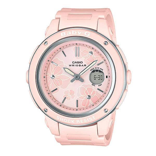 Casio Baby-G Popular Wide Face Pink Resin Band Watch BGA150FL-4A BGA-150FL-4A (jam tangan wanita / casio watch / casio watch women) Malaysia