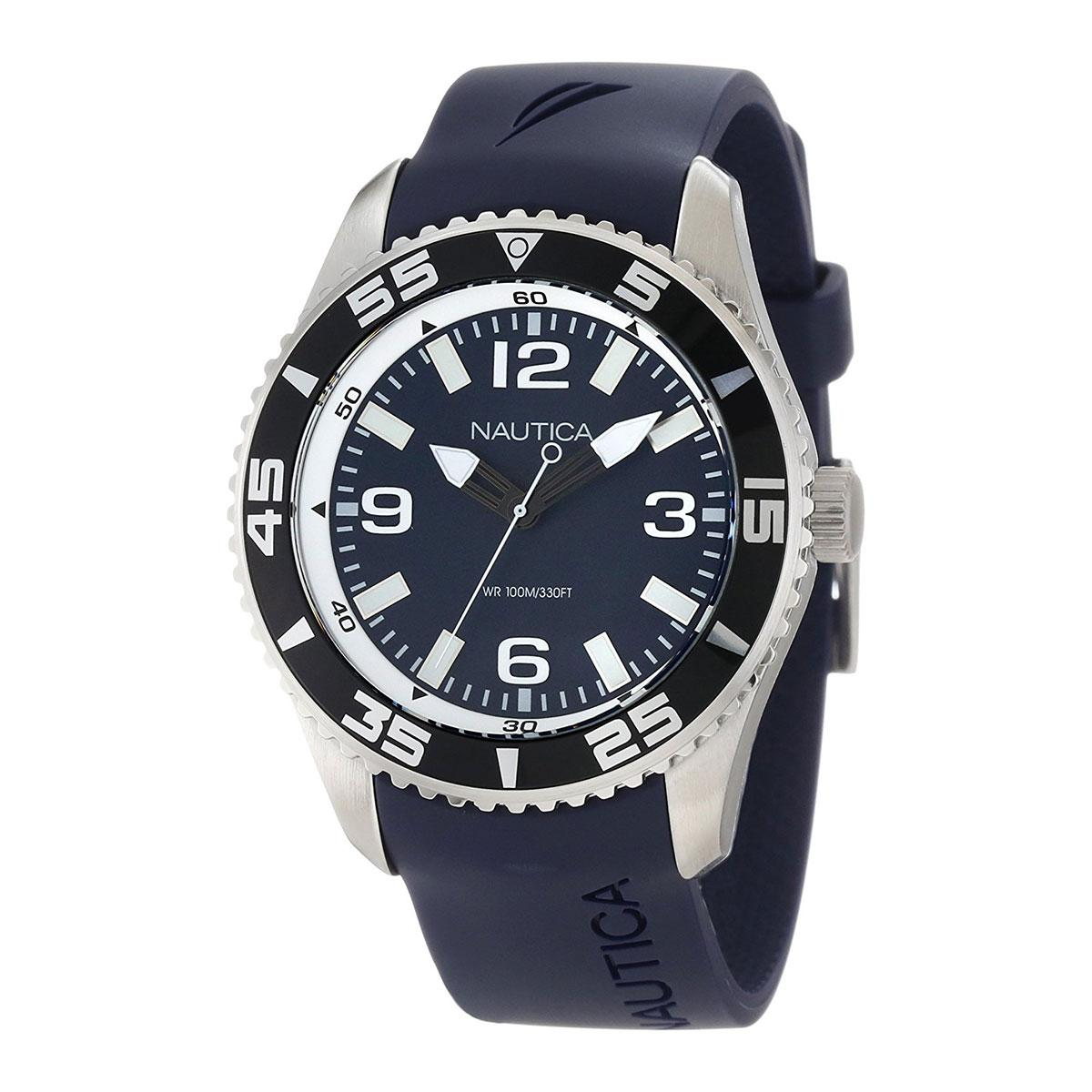 Sale Nautica Watch Nst 07 Blue Stainless Steel Case Resin Strap Mens N11563G Nautica