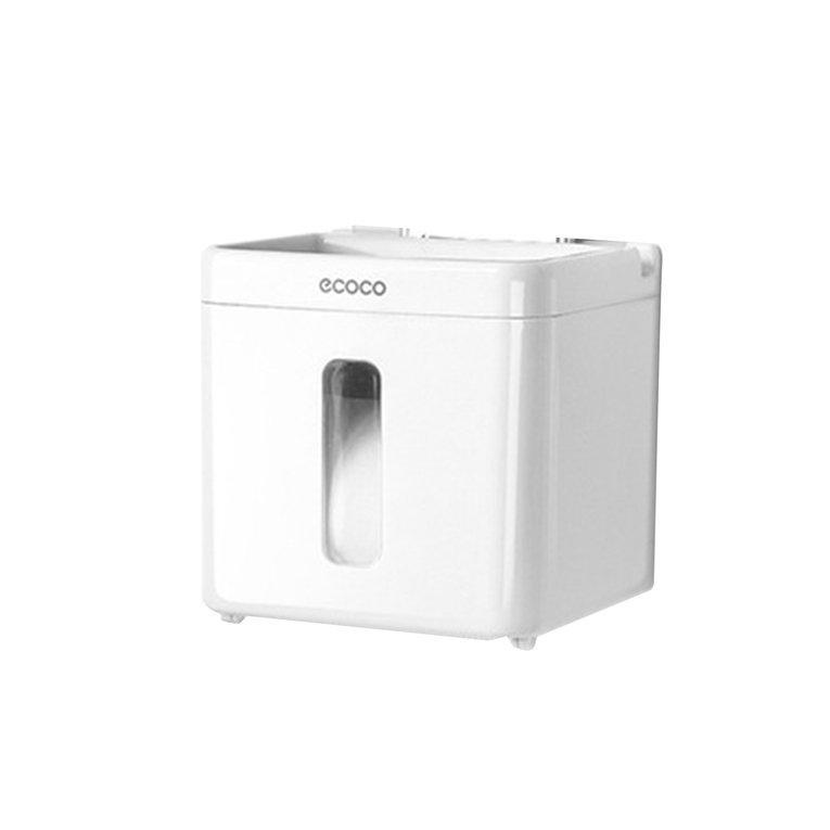 CELE Bathroom Kitchen Hand Paper Towel Dispenser Holder Wall Mounted Tissue Box white