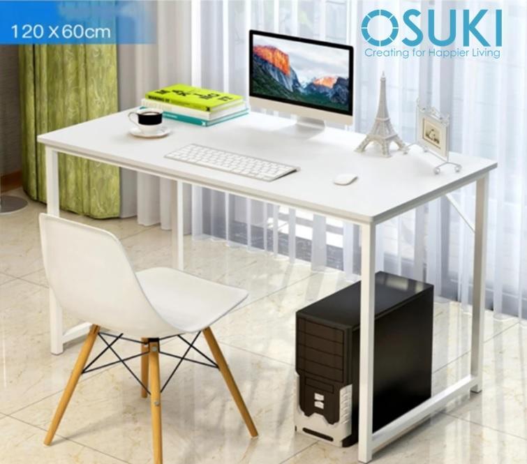OSUKI Japan Quality Modern Office Table 120 x 60cm (White)