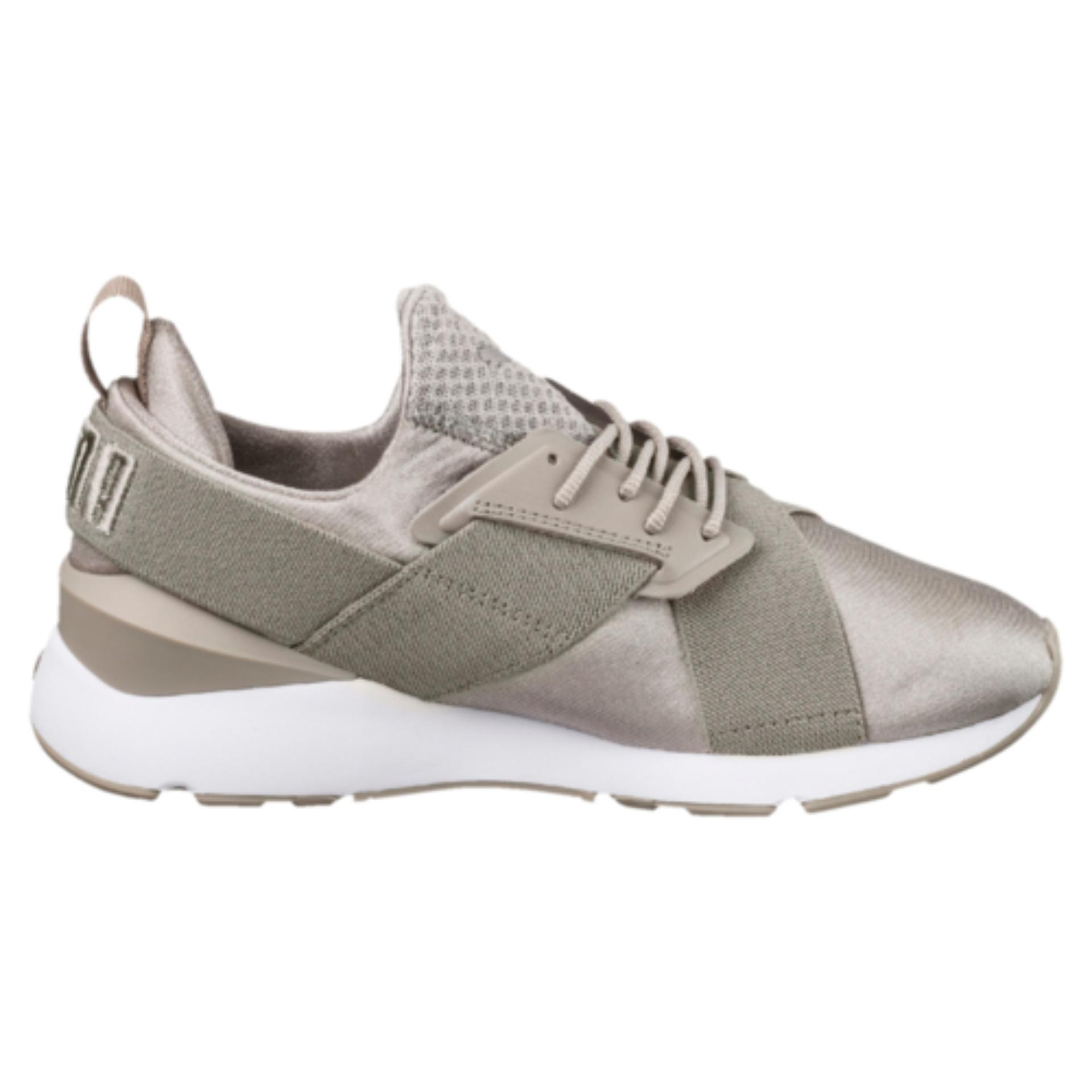 Review Puma Muse Satin Ep Women Sneakers Rock Ridge Puma Whiterock Ridge Puma White Puma On Singapore